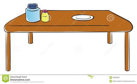 dessin animé de cuisine table de cuisine image libre de droits image 20699846