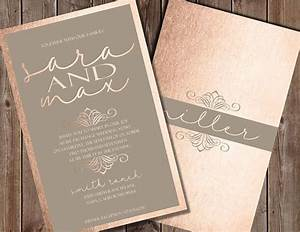 15 best rose gold wedding invitations images on pinterest With rose gold and gray wedding invitations