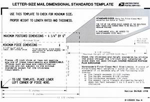 standardstemplate2 With letter size mail dimensional standards template