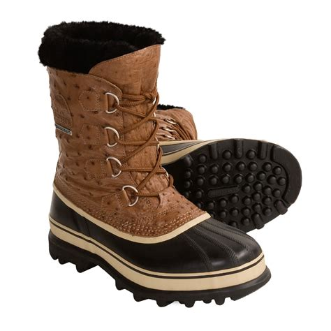 boots sorel caribou pac winter insulated leather ostrich boot submit own