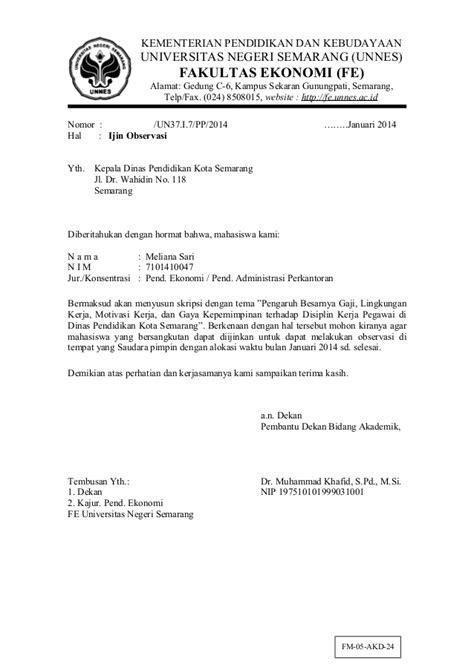 Contoh Surat Balasan Penelitian Suratmenyuratnet