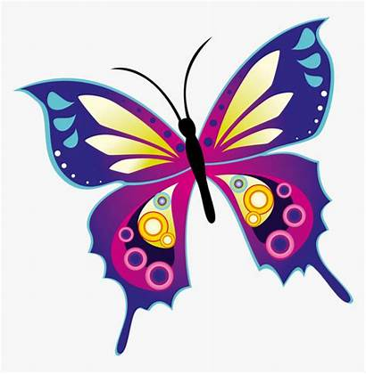 Butterfly Butterflies Colourful Clip Drawing Template Clipart