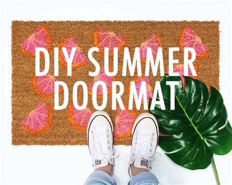 Summer Doormats by Diy Summer Doormat Easy To Follow Tutorial