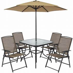 Best choice products 6pc outdoor folding patio dining set for Patio table and chair sets