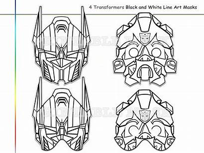 Transformers Transformer Coloring Mask Pages Printable Party