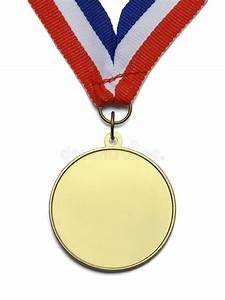 Blank Gold Medal stock image. Image of laurel, first ...