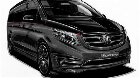 The powerful and expressive front with the tapered hood and. Mercedes V Class Black Crystal is a private jet for the road