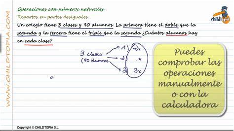Problemas Con Números Naturales, Ejercicios Matemáticas