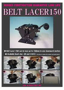 Belt Lacer 150 Easy Hook System Textile Machinery