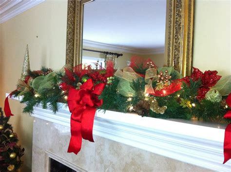 christmas mantel garland holiday decor by ginger pinterest