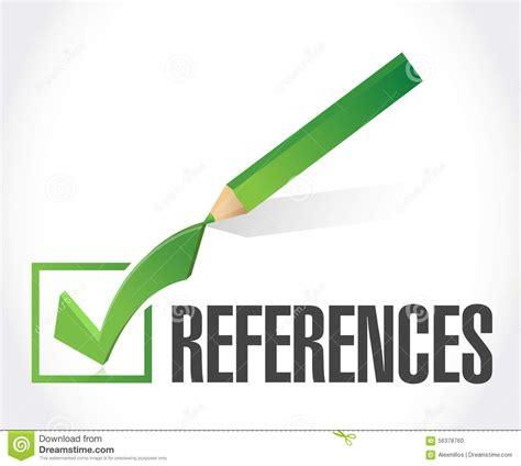 12316 letters of recommendation clipart references check sign concept stock illustration