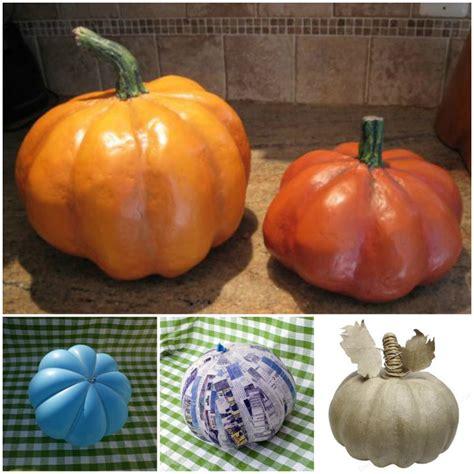 what to make with pumpkin diy papier mache pumpkin tutorial beesdiy com
