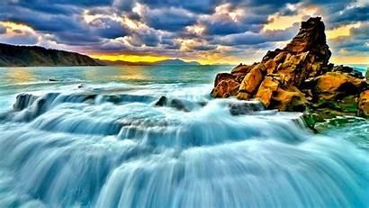 Waterfall Sea Pixelstalk Rainforest 2560 1600