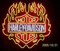 Harley davidson neon sign motorcycle1 by jasmin on