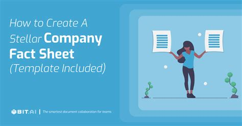 create  fact sheet template included