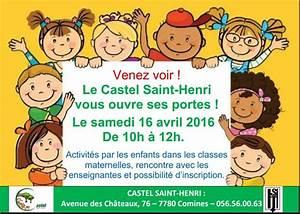 info: portes ouvertes au Castel Saint Henri