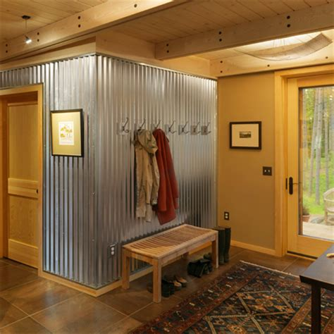 backyard jungle metal home dzine home decor corrugated sheet metal for indoors