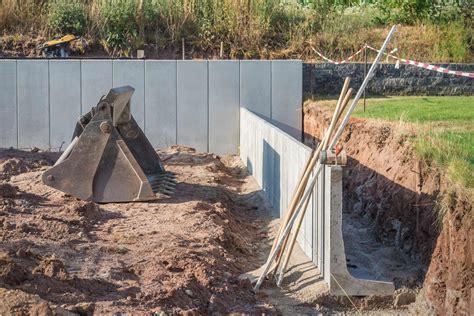 hang befestigen beton gartenmauer errichten hornbach