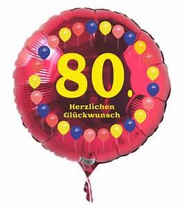 Besinnliches Zum 80 Geburtstag : luftballon 80 geburtstag ballonsupermarkt ~ Frokenaadalensverden.com Haus und Dekorationen