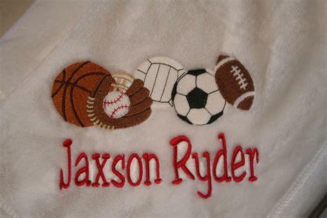 personalized baby blanket embroidered fleece sports monogram gift boy  girl ebay