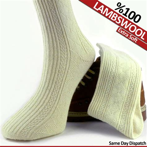 pair  thick unisex pure knitted  lambswool wool