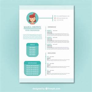 cute resume template vector free download With cute resume templates