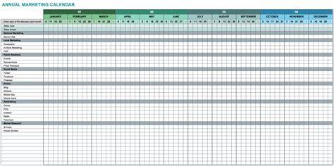 Schedule Template For Excel 9 Free Marketing Calendar Templates For Excel Smartsheet