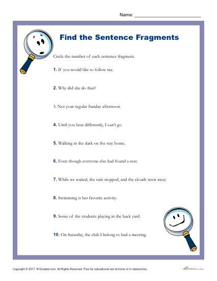 Which Of The Following Is A Sentence Fragment?