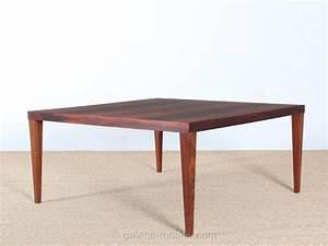 Grande Table Basse Carrée : grande table basse carre e en palissandre galerie m bler ~ Teatrodelosmanantiales.com Idées de Décoration
