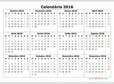 Calendário Outubro 2016 WikiDatesorg