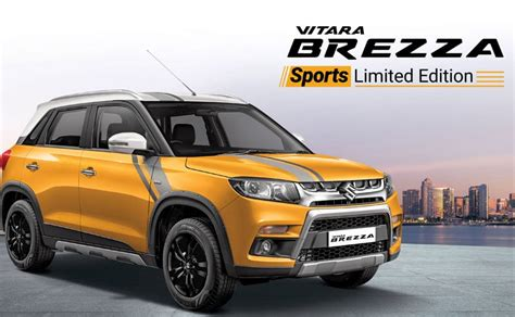 maruti suzuki vitara brezza sports edition priced  india