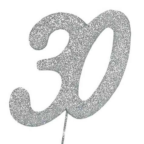 large rhinestone covered 30 30th 30 glitter number on a 30th birthday anniversary