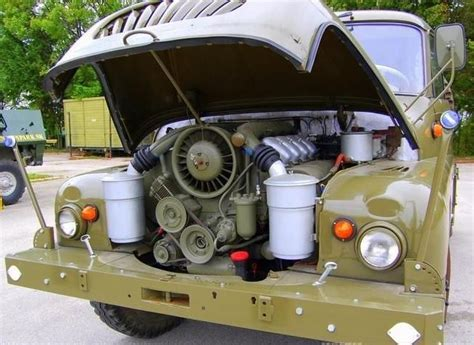 Air Cooled V8 by Air Cooled Diesel V8 Restored 1967 Tatra T138 4x4 Bring