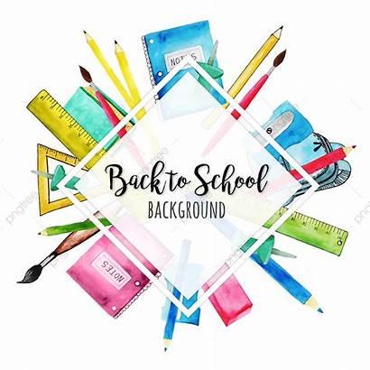 Watercolor Clipart Escuela Acuarela Vectors Fondo Gratis