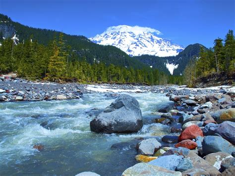 mountain stream incredible nature hd wallpaper