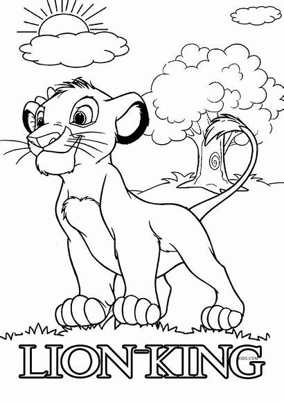 Lion Coloring King Pages Printable Simba Colouring