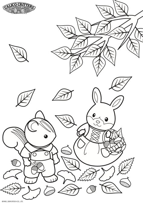 kids n fun com coloring pages of calico critters