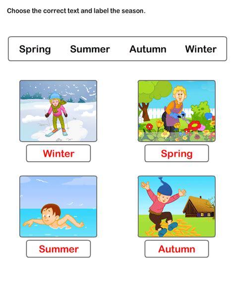 free worksheets on seasons esl worksheets for