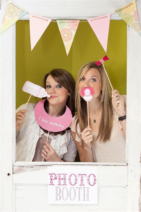 baby shower photo booth prop template party invitations