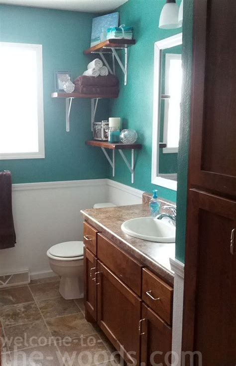 teal bathrooms bathroom shelves and color paints on pinterest