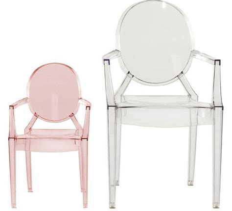 Kartell Chaise Pour Enfants Lou Lou Ghost (rose