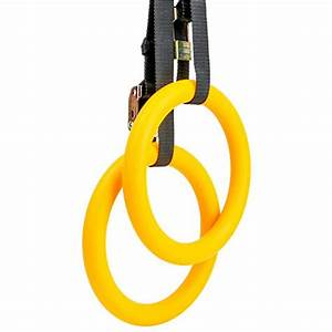 Reehut Gymnastic Rings With Adjustable Straps  Metal
