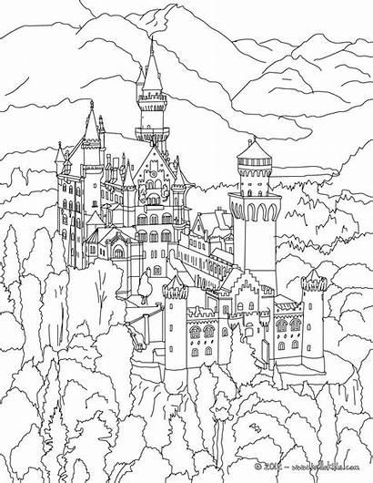 Coloring Palace Buckingham Neuschwanstein Printable Getcolorings Castl