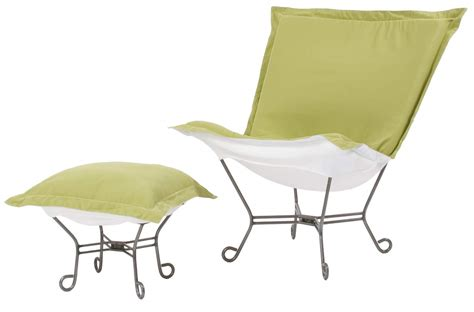 chicago textile puff chair starboard willow patio