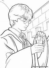 Coloring Potter Harry Chamber Secrets Potions Printable Always sketch template
