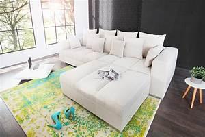 Couch Kissen Xxl : xxl sofa big sofa island beige riess ~ Indierocktalk.com Haus und Dekorationen