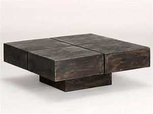 Table Bois Massif Design : 49 tables basses designs ~ Teatrodelosmanantiales.com Idées de Décoration