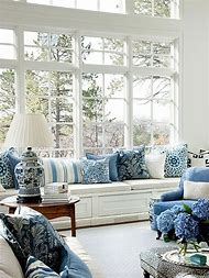 Navy Blue White and Gray Decor