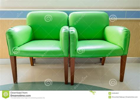 waiting room green chairs stock photo image 64094601