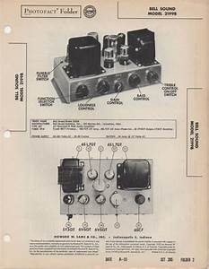 1955 Bell Sound 2199b Amplifier Service Manual Photofact